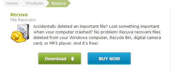 Recuva Undelete Unerase File and Disk Recovery