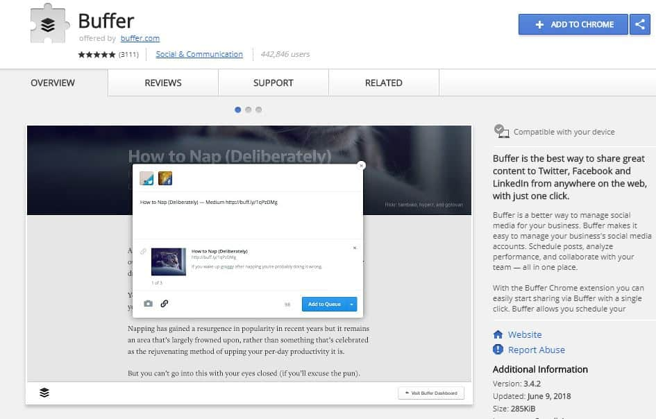 Buffer - Browser Extensions for Powerful SEO