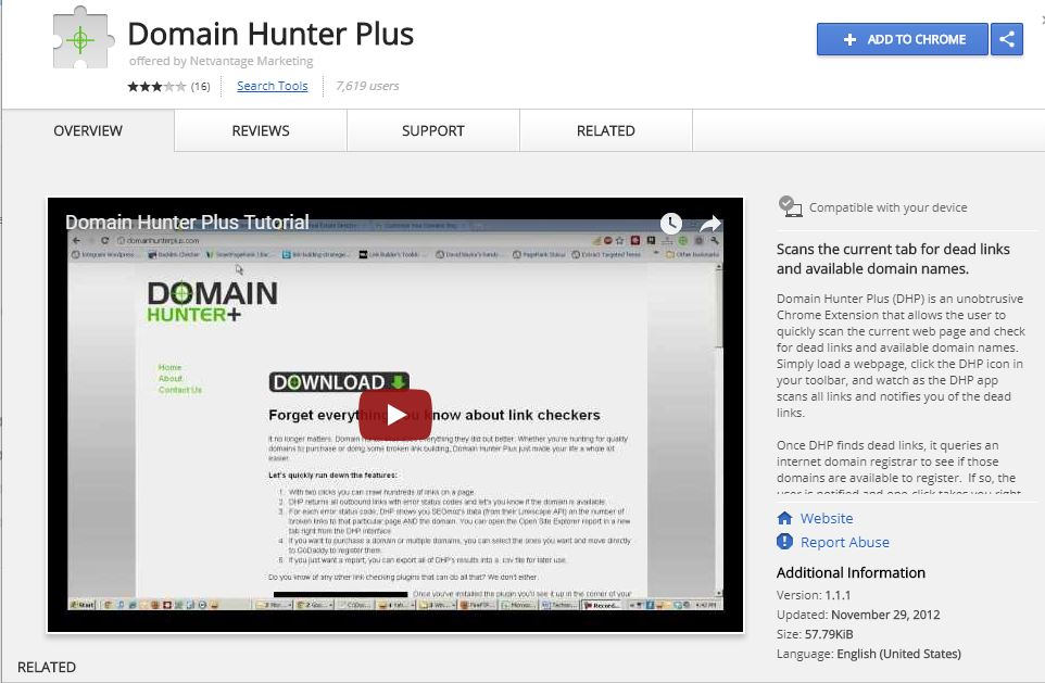 Domain Hunter Plus - Browser Extensions for Powerful SEO