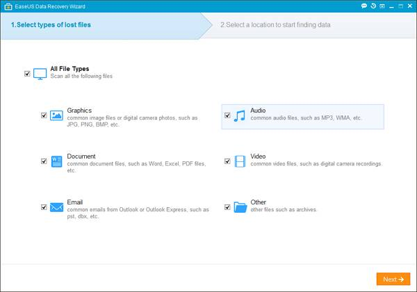 Step 1 - How to Recover your Data Though EaseUS Data Recovery Software