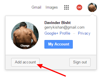 Step 3 - How to Set Default Google account For Multiple Gmail Accounts