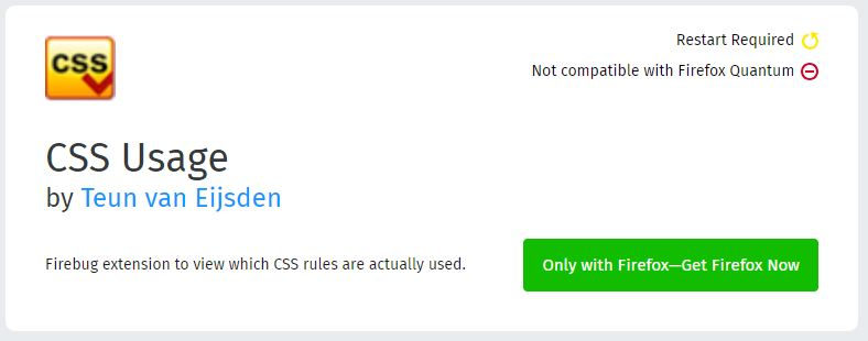 CSS Usage - BestMozilla Firefox Add-Ons for Web Designers & Developers