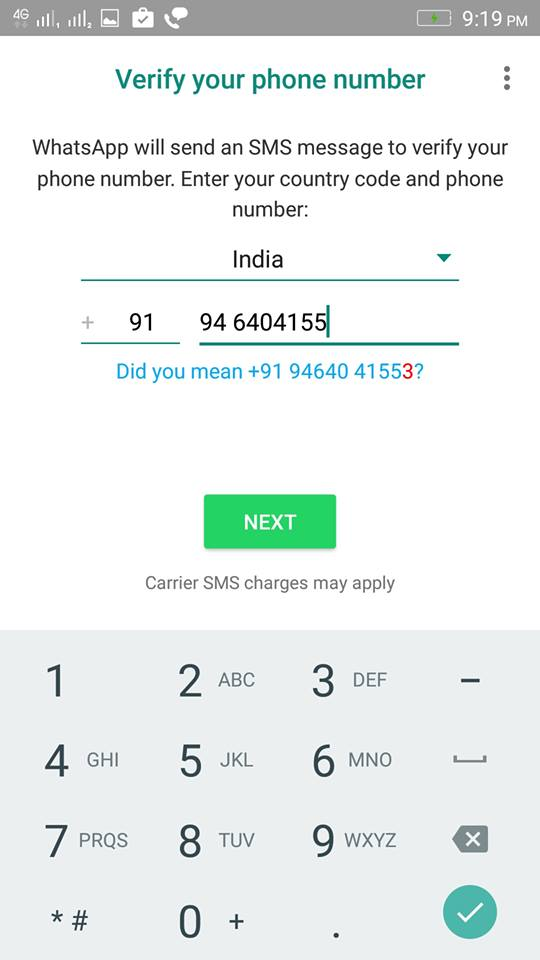 verify whatsapp - How to use Parallel Space