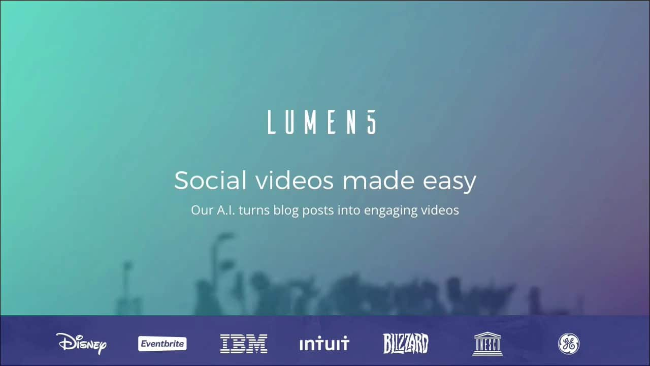 How To Convert Your Blogpost Into Videos - Lumen5
